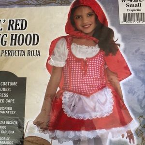 Girls Lil' Red Riding Hood Costume Sz Small